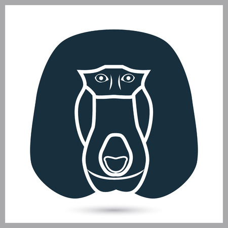 baboon: Baboon icon on the background
