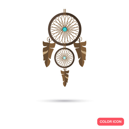 resident: Dreamcatcher color flat icon Illustration