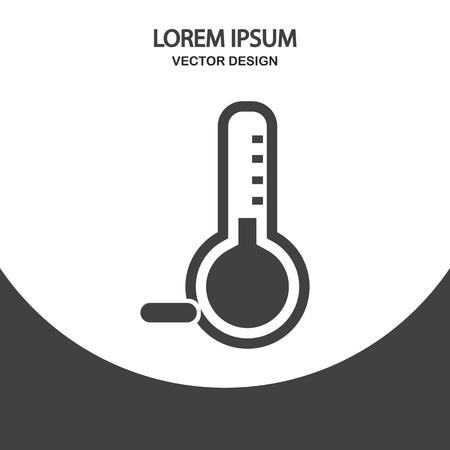 temperatures: Temperatures below zero icon on the background