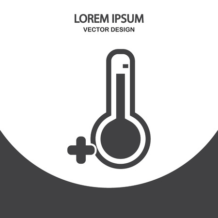 temperatures: Temperatures above zero icon on the background