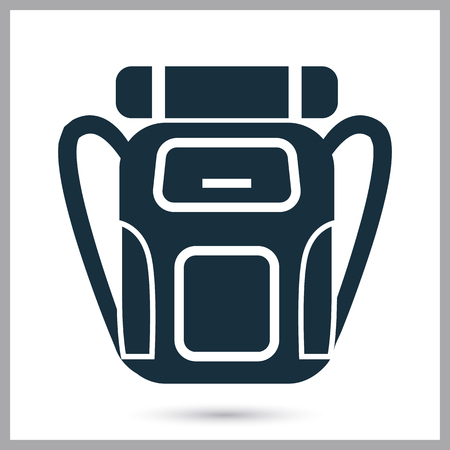 Travel backpack icon on the background