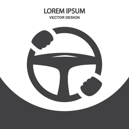 helm: Car helm icon on the background Illustration