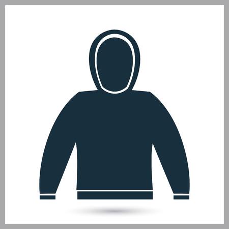 sudadera: icono de la camiseta del hombre en el fondo