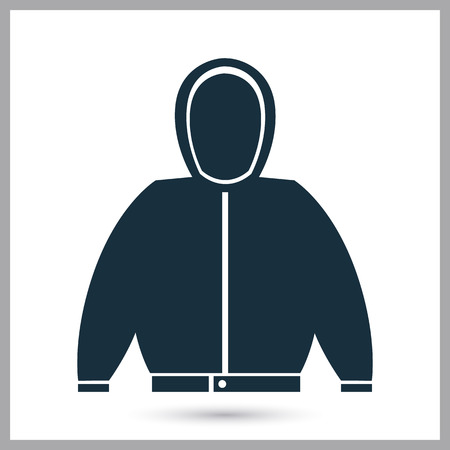 warm jacket: Warm jacket icon on the background Illustration
