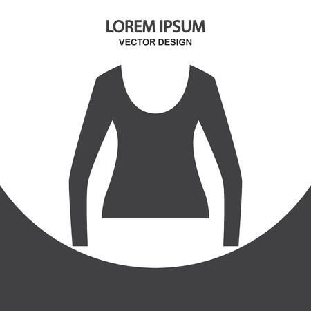 blusa: Mujer icono de la blusa en el fondo