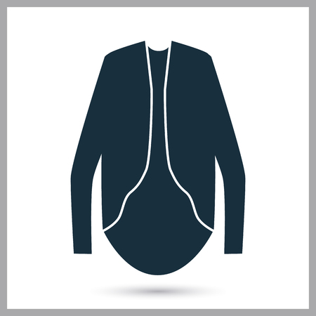 blouse: Woman blouse icon on the background Illustration