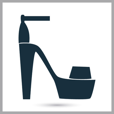 woman sandals: Woman sandals icon on the background Illustration