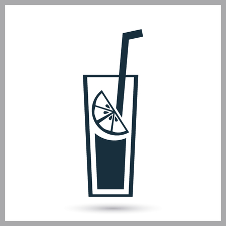 glas: Glas of lemonade icon on the background Illustration