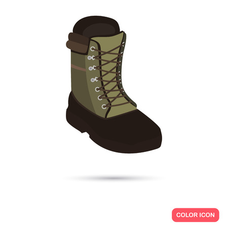 outsole: Hunter boots color flat icon Illustration