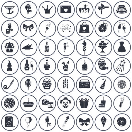 fifty: Set of fifty party icons
