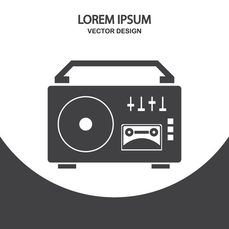 grabadora: icono de la grabadora en el fondo