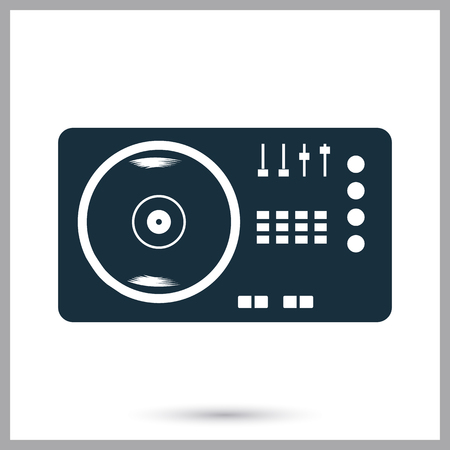 console: DJ console icon on the background Illustration