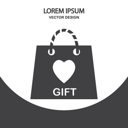 gift bag: Gift bag icon on the background