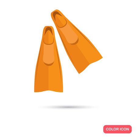 flippers: Flippers color flat icon Illustration