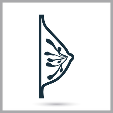Weibliche Brust-Symbol auf dem Hintergrund Standard-Bild - 60059588