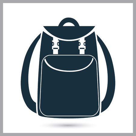 Backpack icon on the background
