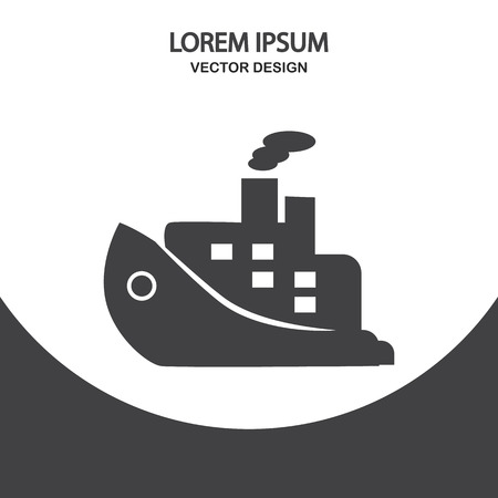 liner: Cruise liner icon on the background Illustration