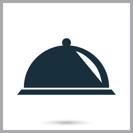 food tray: Food tray icon on the background Illustration