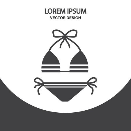 swimsuite: Female swimsuite icon on the background Illustration