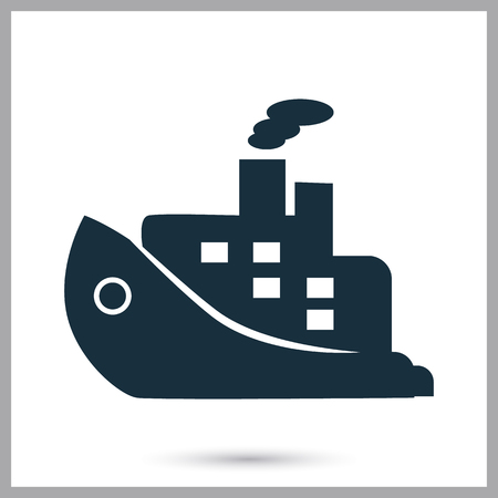Cruise liner icon on the background Illustration