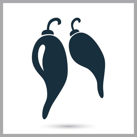 nourishment: Pepper chili simple icon on the background Illustration