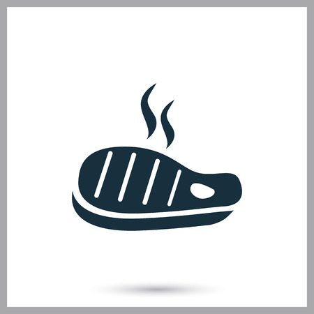 provision: Barbecue steak simple icon on the background