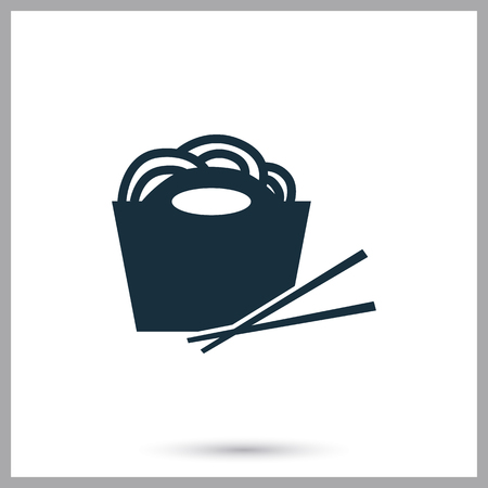ration: Chinese food simple icon on the background