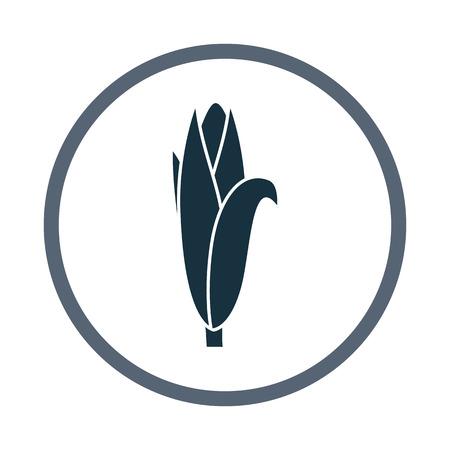 ration: Papaya fruit simple icon on the background Illustration
