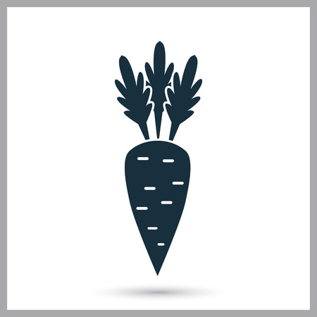 provision: Carrot simple icon on the background
