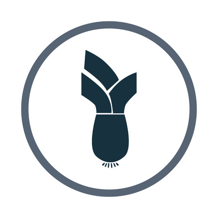 ration: Leek simple icon on the background