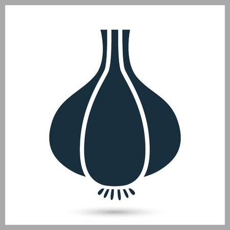 provision: Garlic simple icon on the background