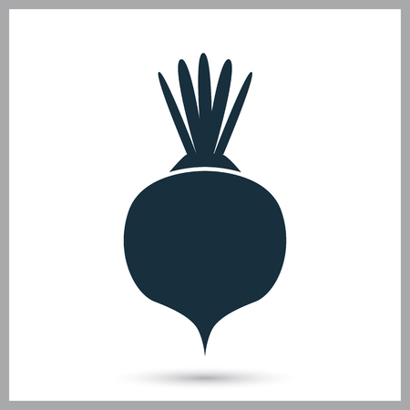 provision: Beet simple icon on the background