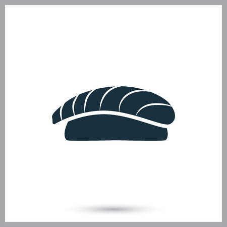 ration: Sushi simple icon on the background