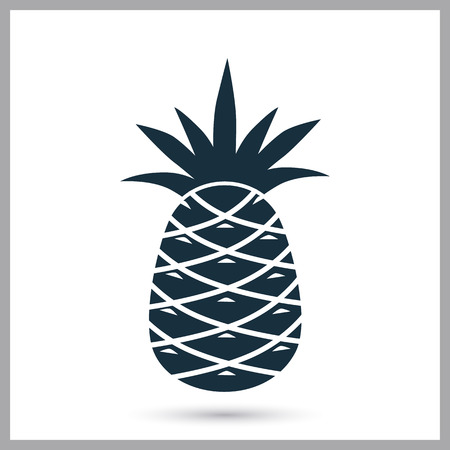 provision: Pineapple simple icon on the background Illustration