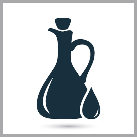 provision: Olive oil in the bottle simple icon on the background