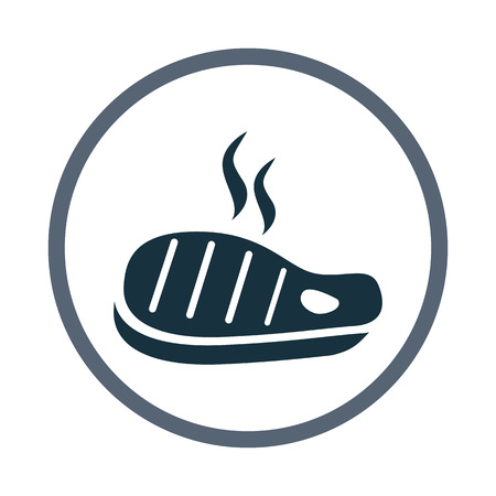 prepack: Barbecue steak simple icon on the background