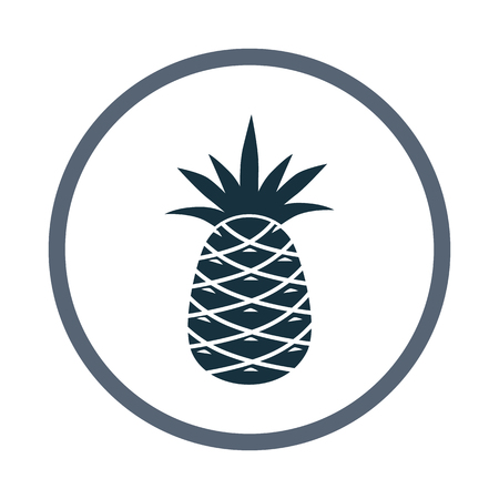 ration: Pineapple simple icon on the background Illustration