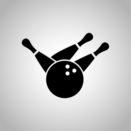 on strike: Bowling strike icon on the background Illustration