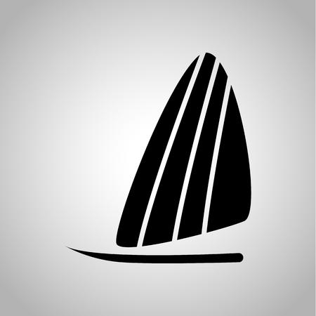 windsurf: icono de windsurf en el fondo Vectores