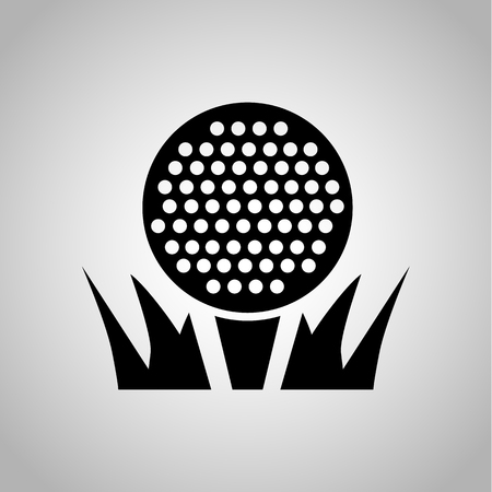 Golf ball icon on the background Illustration