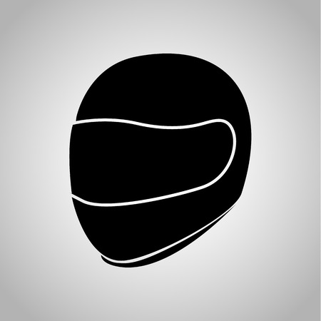 Motorcycle helmet icon on the background
