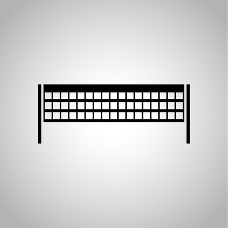 tennis net: Table tennis net icon on the background