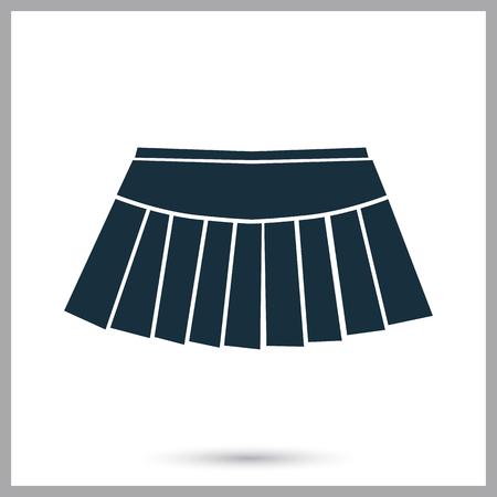tennis skirt: Tennis skirt icon on the background Illustration