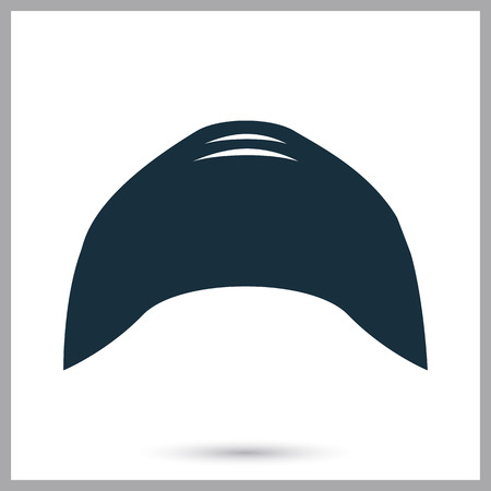 swim cap: Swim cap icon on the background