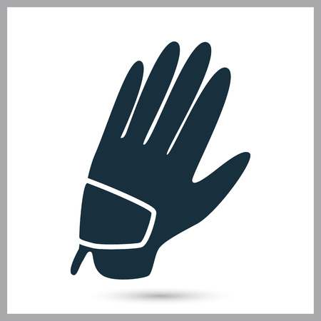 Golf glove icon on the background