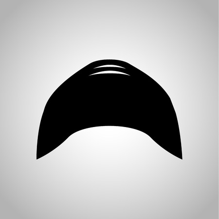 swim cap: Swim cap icon on the background