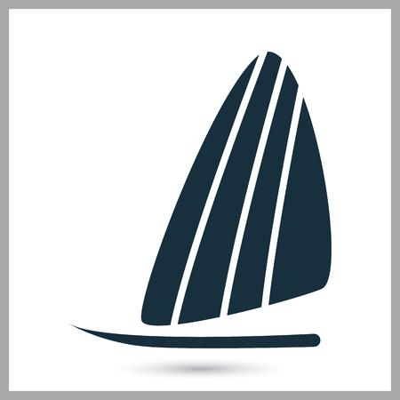 windsurfing: icono de windsurf en el fondo Vectores