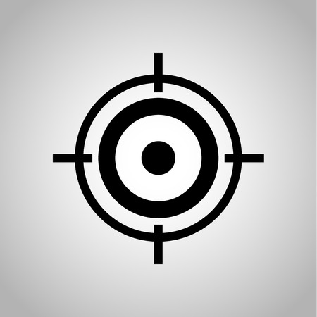 Target for biathlon icon on the background Illustration