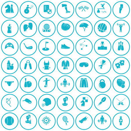 Set of forty nine sport icons