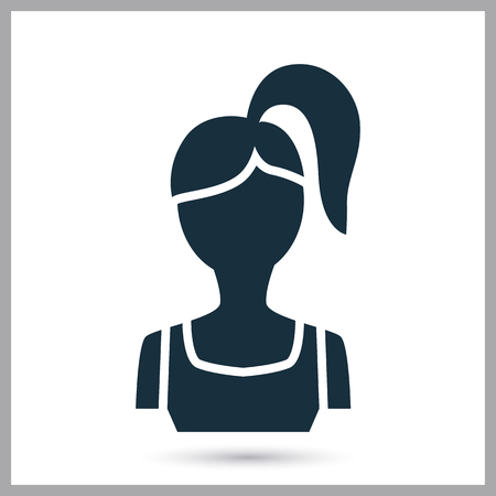 Fitness girl icon on the background Illustration